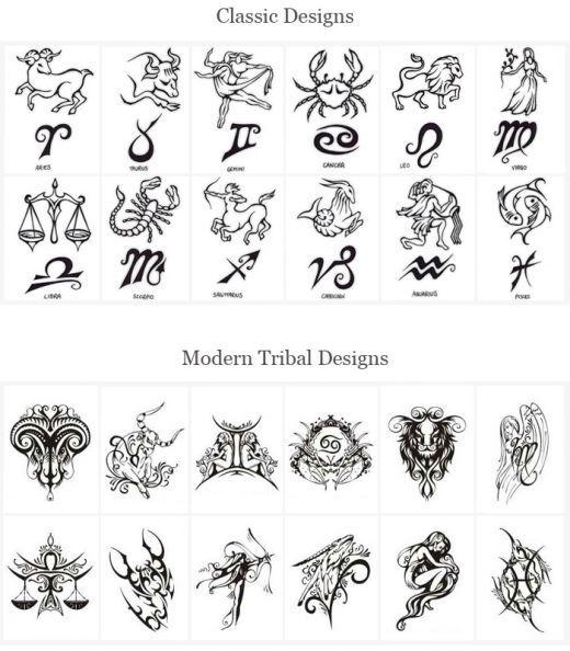 tatuajes pequenos signos zodiaco