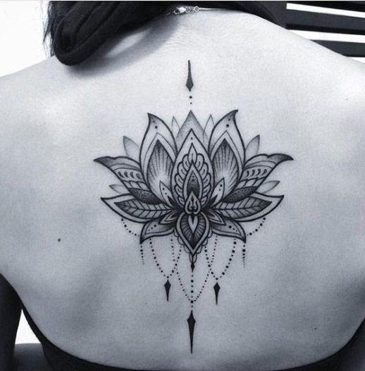 Flor De Loto Tattoo Mandala Para Hombre