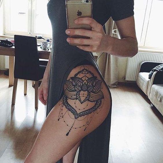 Tatuajes En El Muslo Dela Pierna Mujer Sfb
