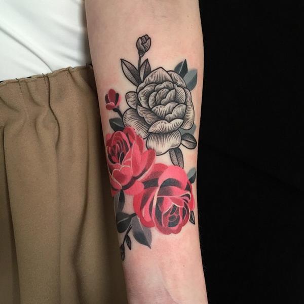 99 Tatuajes de rosas diseos para mujer