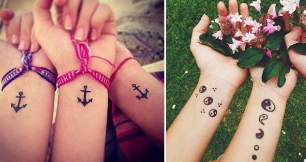 100 tatuajes para mejores amigas con dise os geniales for Frases para tatuarse dos amigas