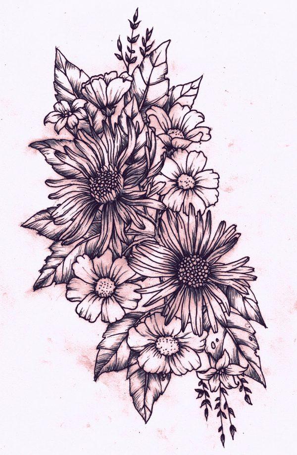 Tatuajes De Flores Para Mujeres Disenos Hermosos - Diseos-de-rosas