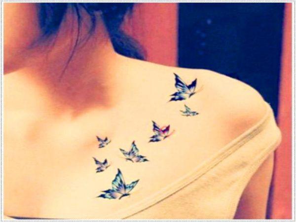 Tatuajes Bonitos De Mariposas En El Hombro Tatuajes Para Mujeres