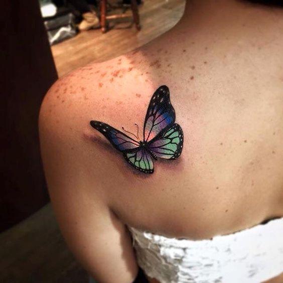 Tatuajes Para Mujeres En La Espalda - Tatuajes-de-colores-para-mujeres