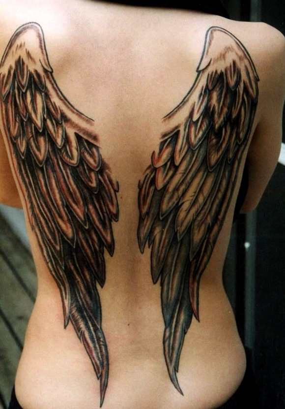 Tatuajes De Alas En La Espalda Tatuajes Para Mujeres