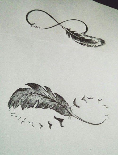 Tatuajes De Infinitos Con Plumas